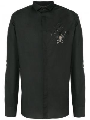 Рубашка Opposite Philipp Plein. Цвет: чёрный