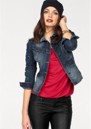 Джинсовая куртка MELROSE. Цвет: синий деним