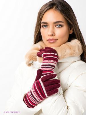 Перчатки Modo. Цвет: бордовый, бледно-розовый, красный