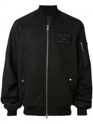 Сетчатая куртка-бомбер Ultra Odeur. Цвет: чёрный