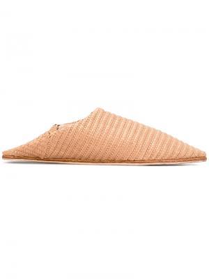 Babou slippers Nanushka. Цвет: телесный