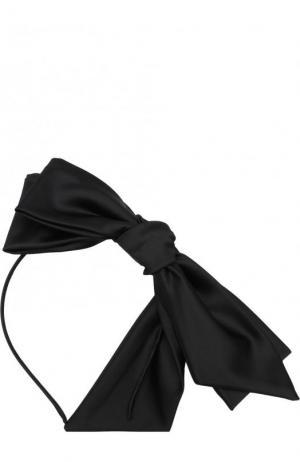 Ободок с текстильным бантом Emporio Armani. Цвет: черный