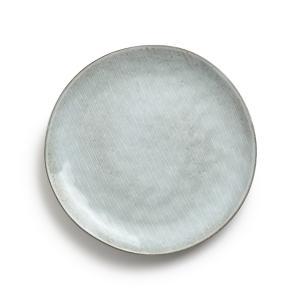 Комплект из 4 мелких тарелок керамики, Amedras AM.PM.. Цвет: серо-синий