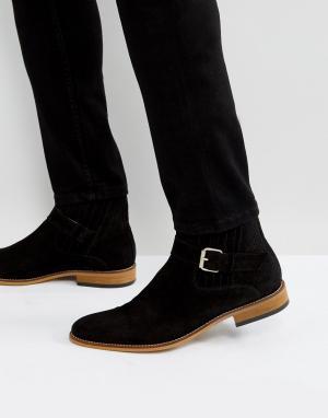 House of Hounds Черные замшевые ботинки с пряжками. Цвет: черный