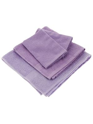 Махровое полотенце-сиреневый-70х140-100% хлопок, УзТ-МПБ-004-02-05 Aisha. Цвет: сиреневый