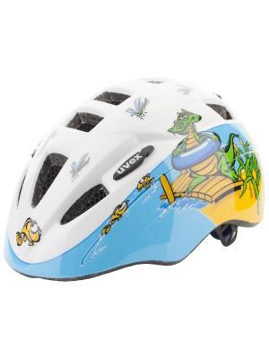 Шлемы Uvex. Цвет: белый, бирюзовый