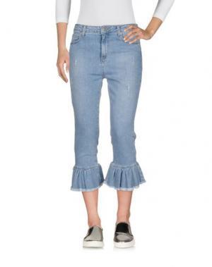 Джинсовые брюки-капри VICOLO. Цвет: синий