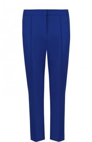 Укороченные однотонные брюки со стрелками Escada. Цвет: синий