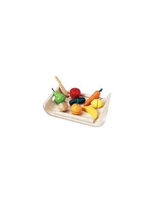 Фрукты и овощи PLAN TOYS. Цвет: бежевый, красный, желтый, зеленый