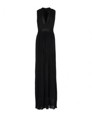 Длинное платье GIULIANO FUJIWARA. Цвет: черный