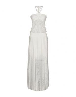 Длинное платье PATRIZIA PEPE. Цвет: белый
