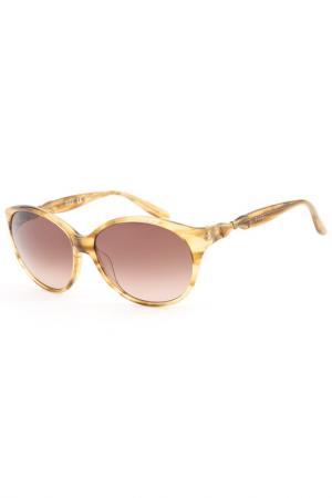 Очки солнцезащитные ELLE. Цвет: коричневый
