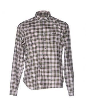 Pубашка WOOSTER + LARDINI. Цвет: черный