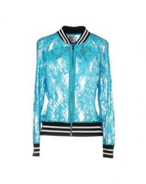 Куртка FOLLOW US. Цвет: бирюзовый
