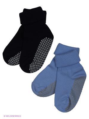 Носки Skinija. Цвет: черный, голубой