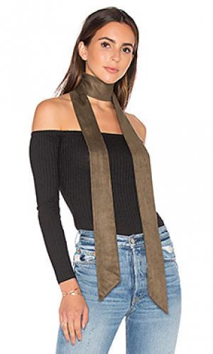 Узкий шарф 8 Other Reasons. Цвет: оливковый