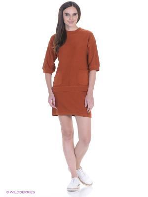 Пуловер CANTILENA Numph. Цвет: терракотовый