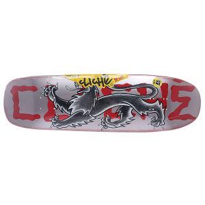 Дека для скейтборда  Lyon By Dressen R7 Multi 32 x 9 (22.9 см) Cliche. Цвет: серый,черный,красный