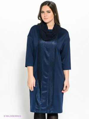 Платье Amelia Lux. Цвет: темно-синий