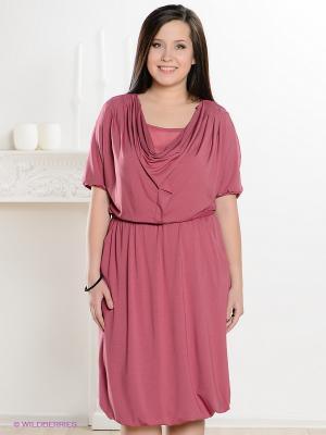 Платье Classic Style. Цвет: розовый, темно-бордовый