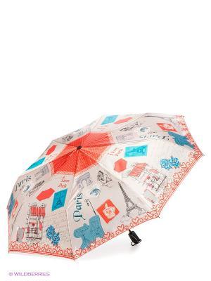 Зонт Zemsa. Цвет: бежевый, красный