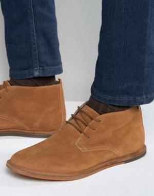 Frank Wright Замшевые светло-коричневые ботинки чукка Strachan. Цвет: рыжий