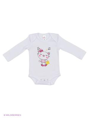 Пижама ясельная MP0102 01 цвет белый, кошечка Квирит. Цвет: белый