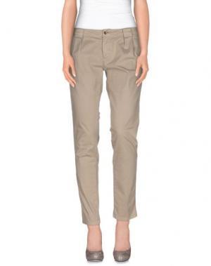 Повседневные брюки NO LAB. Цвет: бежевый