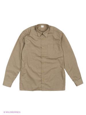 Рубашка Аэлита. Цвет: темно-бежевый