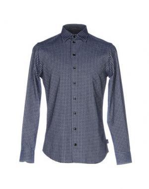 Джинсовая рубашка ARMANI COLLEZIONI. Цвет: синий