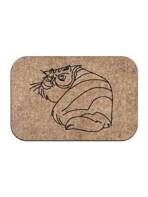Коврик придверный Угрюмый кот MoiKovrik. Цвет: темно-бежевый