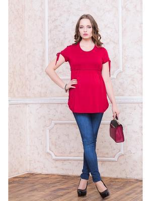 Блуза для беременных Gebbe. Цвет: красный