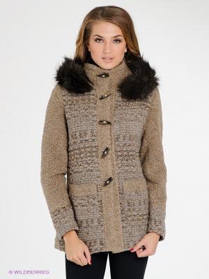 Пальто FRACOMINA. Цвет: светло-коричневый, серо-коричневый