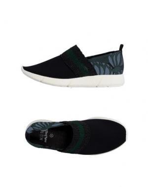 Низкие кеды и кроссовки MALÌPARMI. Цвет: темно-зеленый