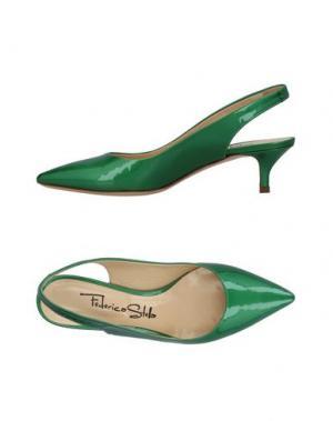 Туфли FEDERICA STELLA. Цвет: зеленый