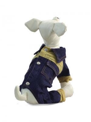 Костюм  для животных (джинсовый) утепленный TRIOL. Цвет: синий