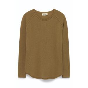 Пуловер с круглым вырезом, из шерсти и кашемира EXABIRD AMERICAN VINTAGE. Цвет: оранжевый,хаки