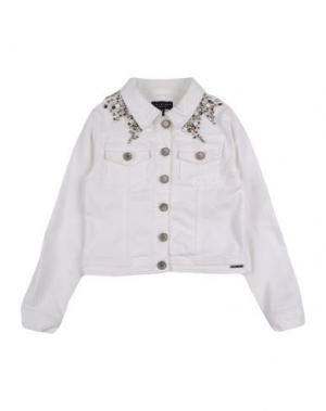 Джинсовая верхняя одежда TWIN-SET Simona Barbieri. Цвет: белый
