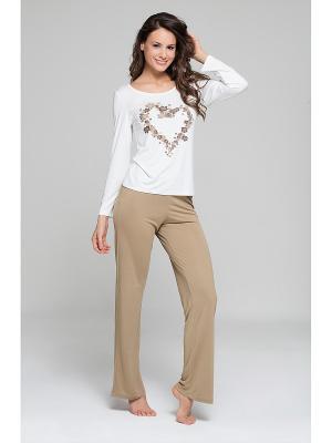 Комплект кофта и брюки MARIPOSA. Цвет: золотистый