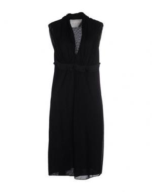Платье до колена ALBINO. Цвет: черный