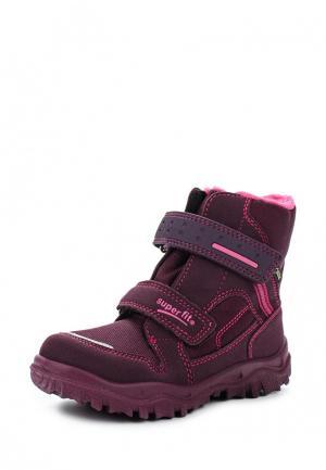 Ботинки Superfit. Цвет: бордовый