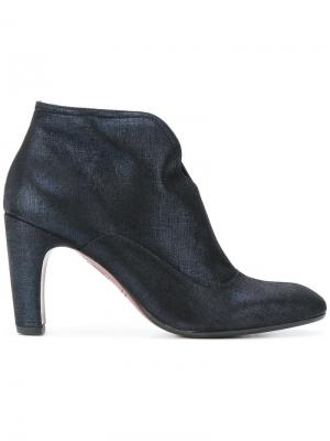 Fitted zipped boots Chie Mihara. Цвет: синий