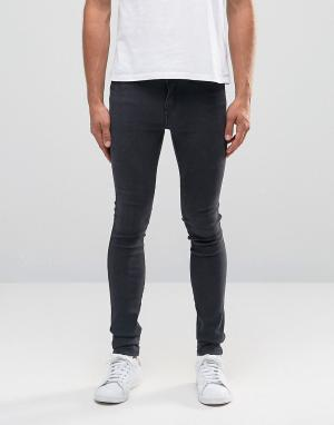 Dr Denim Супероблегающие джинсы Kissy. Цвет: черный