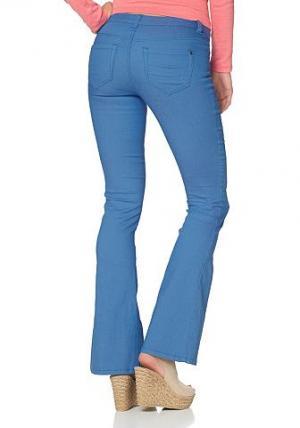 , брюки «клёш» из очень эластичного материала AJC. Цвет: синий