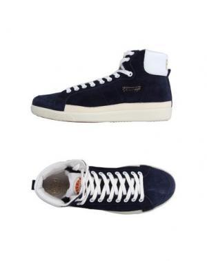 Высокие кеды и кроссовки PANTOFOLA D'ORO. Цвет: темно-синий