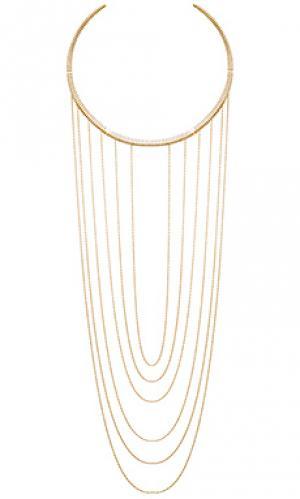 Ожерелье Ettika. Цвет: металлический золотой