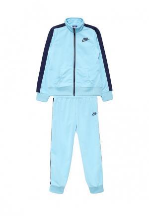 Костюм спортивный Nike. Цвет: голубой