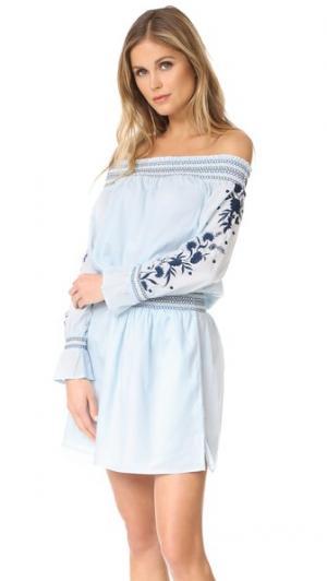 Мини-платье Formentera PAMPELONE. Цвет: голубой