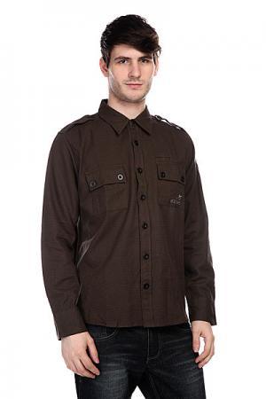 Рубашка  Tyson Military Innes. Цвет: коричневый