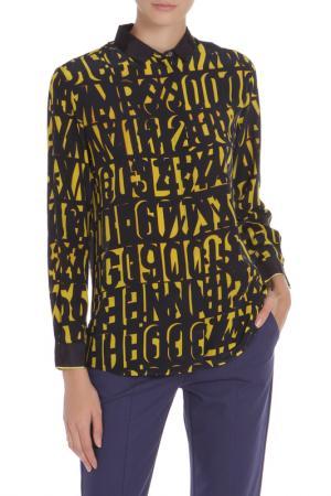 Рубашка Paul Smith. Цвет: темно-синий, желтый